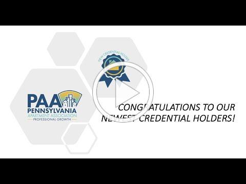 Congratulations Credential Holders!