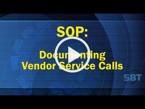 SOP Document Vendor Calls
