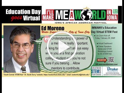 I'll Make Me A World in Iowa Career Speaker: Ed Moreno