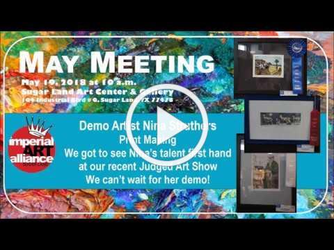 Print Making Nina Struthers May 2018 IAA
