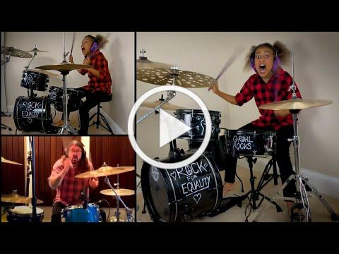 Dave Grohl VS Nandi Bushell EPIC Drum Battle - Dead End Friends - Them Crooked Vultures - Checkmate!