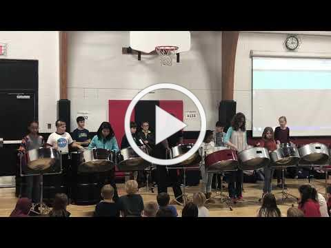 Eden Students Learn Steel Drums