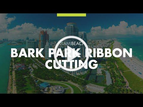 Bark Park Ribbon Cutting at Open Space Park