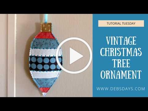Scrap Fabric Vintage Christmas Tree Ornament - Easy Sewing Project