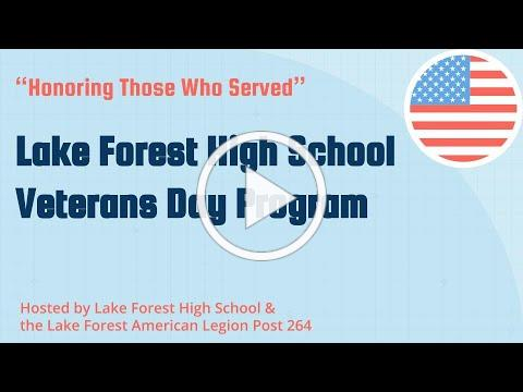 Lake Forest High School Veterans Day 2020