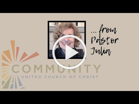 Pastor Julia's message for March 18, 2021