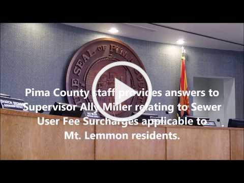 Staff answers Supervisor Miller's questions about Mt. Lemmon user fees