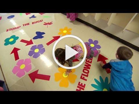School helps fidgety kids with exercise in its sensory hallway
