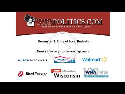 WisPolitics.com Virtual Luncheon: State of Local Budgets