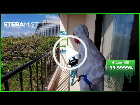 Disinfect Guam | Kills viruses and germs in seconds | Steramist - Binary Ionization Technology
