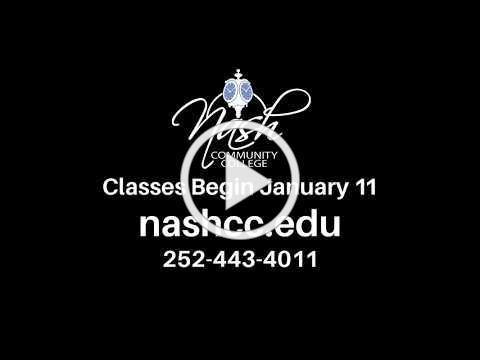 Nash Community College 2021 Spring Registration Promo
