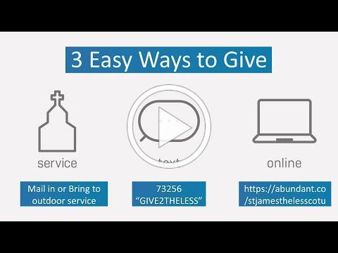 Three Easy Ways To Give To St. James the Less, Ashland, VA