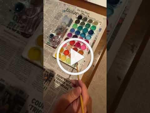 Water Coloring Postcard with ATPF Volunteer Paige