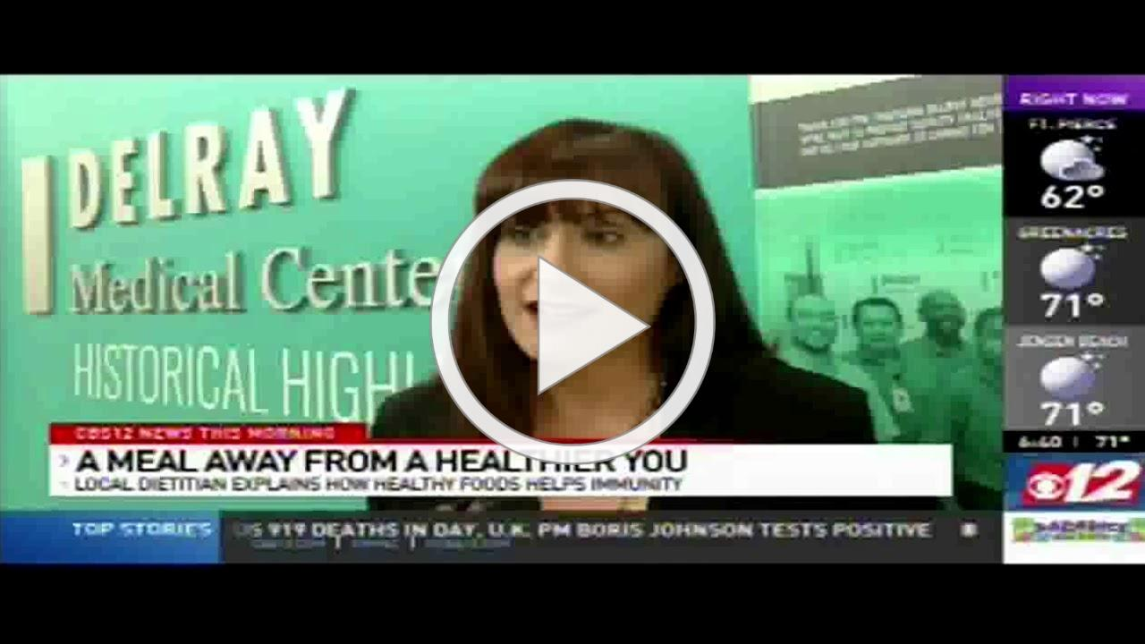 Sam Barone of DMC interviewed on CBS 12 about eating healthy during COVID-19 pandemic