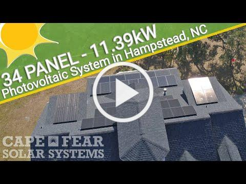 Residential Solar Power System - Hampstead, NC