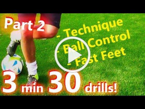 Ball Mastery l Coerver Coaching & Soccer Drills HOMEWORK Part 2 - 30 *GREAT* football Ball Control