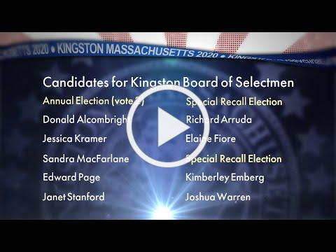 Kingston Candidates for Board of Selectmen - Election 2020