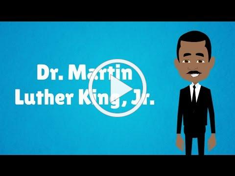The Life of Dr. Martin Luther King, Jr. - MLK Day! (Animated) Black History Month Video