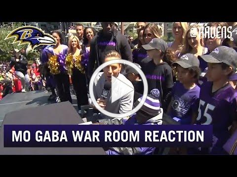 Ravens Draft Room Emotional as Mo Gaba Announces Pick | Baltimore Ravens