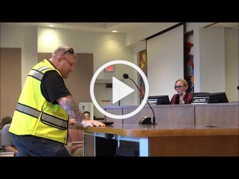 Chris King addresses the Pima County Board of Supervisors on December 18, 2018