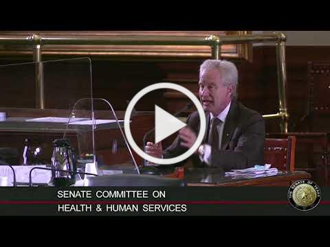 Peter McCullough, MD testifies to Texas Senate HHS Committee