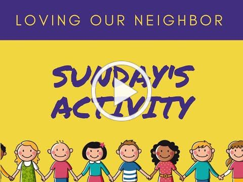 VBS 2020 Sunday Activity/Love