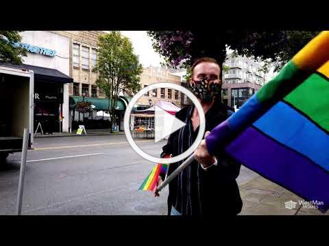 Pride Flags in the West Seattle Junction
