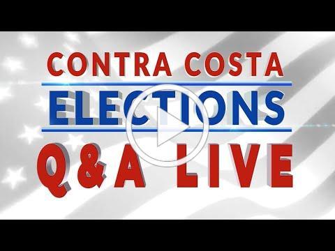 Contra Costa Elections Q&A LIVE