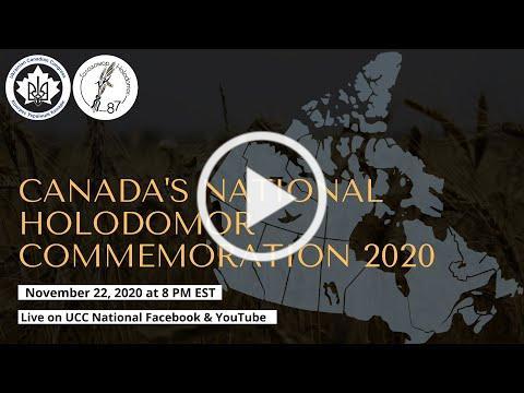 2020 National Virtual Holodomor Comemmoration.mp4