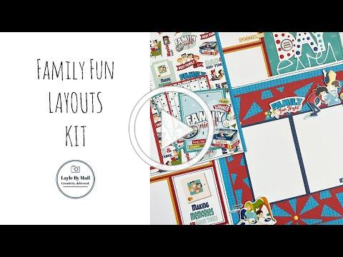 Family Fun Layouts Kit - Layle By Mail