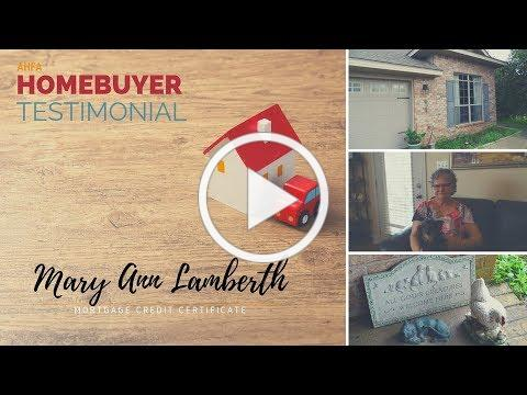 Homebuyer Testimonial: Mary Ann Lamberth, Loxley