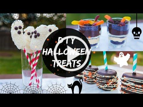 DIY HALLOWEEN TREATS (NO BAKE)