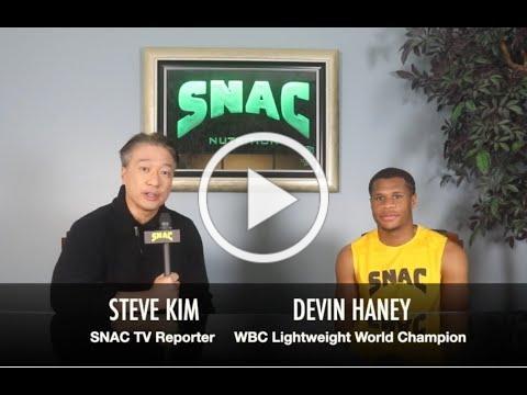 "WBC World Champion Devin ""The Dream"" Haney Interview w SNAC TV Reporter Steve Kim - Haney vs Linares"