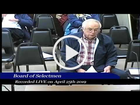 2019-04-25 WB Board of Selectmen