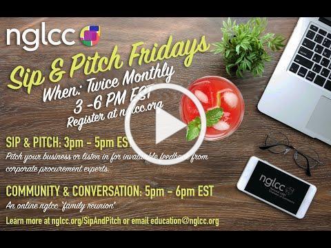 NGLCC LGBT Sip & Pitch Sizzle Reel, Spring 2020