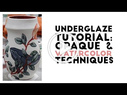 How to Use Underglaze: Watercolor and Opaque Techniques