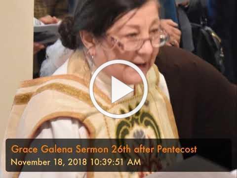 Grace Galena Sermon 26th after Pentecost