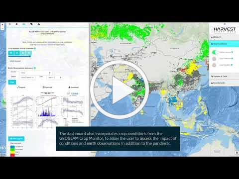 NASA Harvest COVID-19 Dashboard Overview
