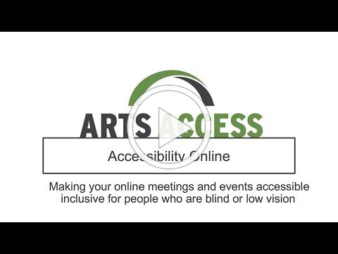 Accessibility Online - Accommodations for People who are Blind or Low Vision