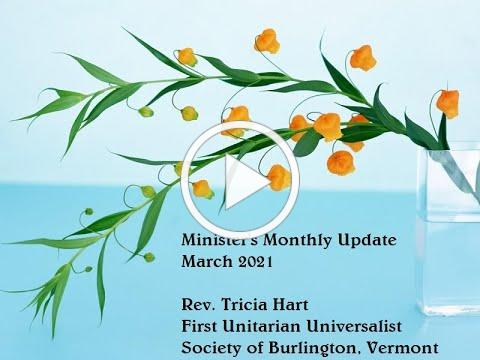 Minister's Monthly Update - March 2021