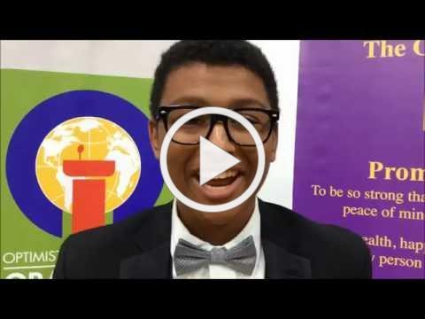 Cameron Tyler: Optimist Oratorical World Champion