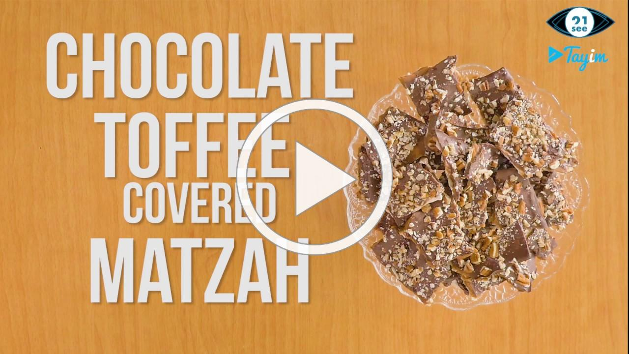 Learn how to make chocolate toffee matzah
