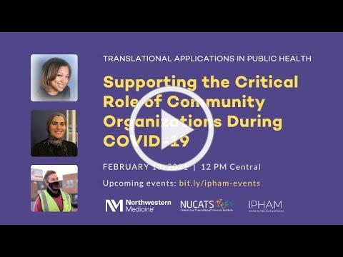 Supporting the Critical Role of Community Organizations During COVID-19