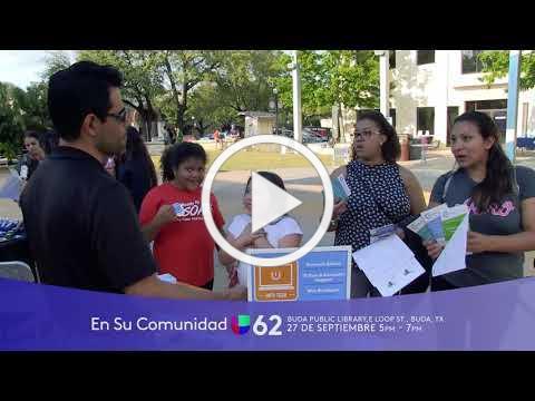 """Univision's """"En Su Comunidad"""" at Buda City Hall - Friday, Sept. 27"""