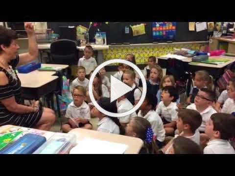 Kindergartener's stepping up with Mrs Boylan's first grade