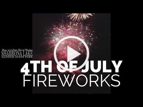 4th of July Fireworks Display over Shabbona Lake