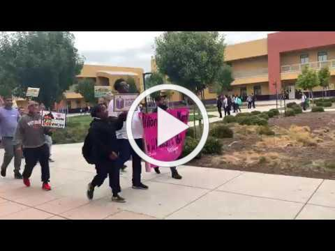 Million Father March at Martin Luther King Jr. JHS