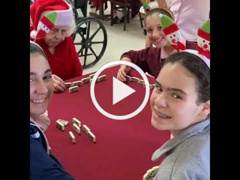Dancers from Conchita Espinosa Conservatory of the Arts Visit Harmony Nursing Home