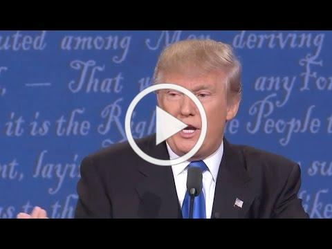 DT: Not paying taxes makes me smart - 2016 Presidential Debate - Donald Trump vs. Hillary Clinton