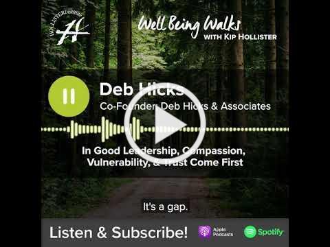 Well Being Walks Episode 4- Deb Hicks
